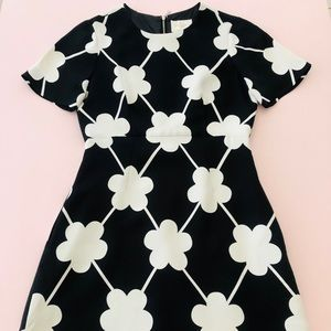 Kate Spade White Black Floral Cocktail Dress